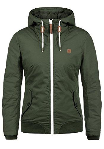 DESIRES Tilla Damen Übergangsjacke Jacke gefüttert mit Kapuze, Größe:M, Farbe:Climb Ivy (3785)