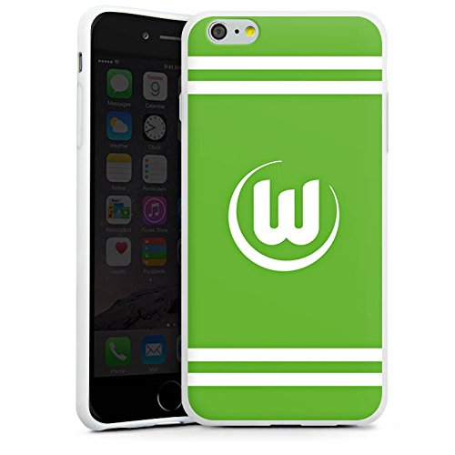 Apple iPhone X Silikon Hülle Case Schutzhülle Vfl Wolfsburg Fanartikel Wölfe Fussball Silikon Case weiß