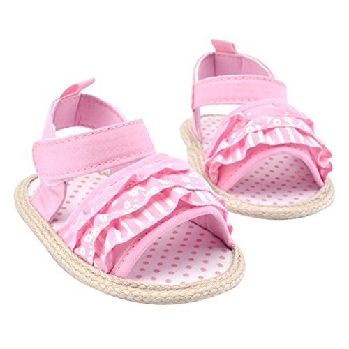 La Cabina Sandales Bébé Fille garçon - Chaussures Bébé Fille garçon -Chaussure Bébé Fille Garçon Premier Pas -Chaussures Souples Confortable - Chaussures Antiglisse pour été Printemps (0-18 mois ) (12 rose