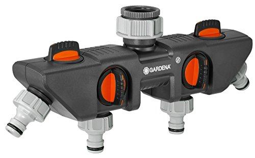iler: Anschlussmöglichkeit für bis zu 4 Geräte an den Wasserhahn, passend zu GARDENA Bewässerungscomputern & -uhren, Wasserdurchfluss regulier- und absperrbar (8194-20) ()