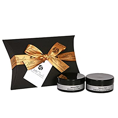 Mens shaving gift set a mens father's day or fathers birthday set with organic shaving cream lotion balm and aftershave spritz mens shaving set with shea cocoa butter and calendula to calm and relief the skin after shaving.
