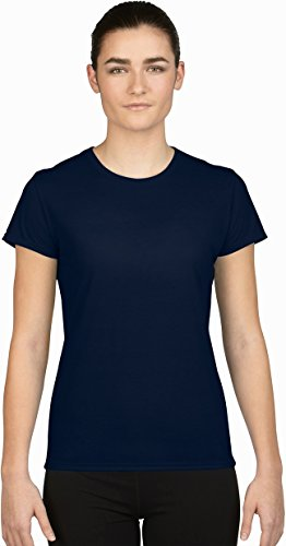 T-shirt à manches courtes Gildan Core Performance pour femme bleu