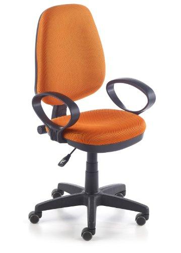 Due-home Silla de Oficina Silla Escritorio tapizado 3D Color Naranja