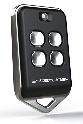 Starline radiocomando marca modello bm4 433 mhz compatibile con radiocomandi di marca bft®, modelli:trc1®, trc2®,trc4® mitto 2®, mitto 4®, brcb02 ®, brcb04®. (nero)