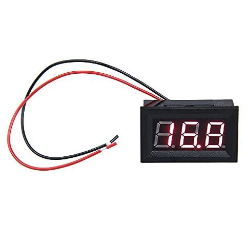 Hrph 0.56 pouce LCD DC 3.2-30V Rouge LED Mètres du Panneau Voltmètre Numérique avec Deux Fils