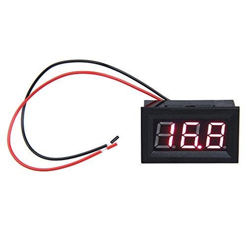 Hrph 0.56inch LCD DC 3.2-30V rote LED-Verkleidungs-Messinstrument Digital Voltmeter mit Zweileiter-