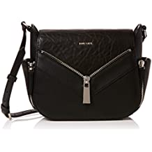 Diesel le-zipper Le-claritha - Cros, Sacs bandoulière femme, Black, 10x22x25 cm (W x H L)