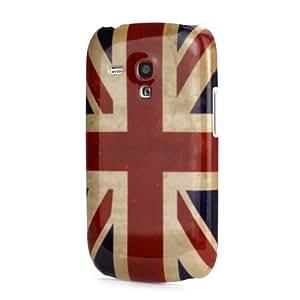 Vintage Union Jack Case for Samsung i8190 Galaxy S3 Mini - Retro UK Flag Hard Plastic Back Phone Cover + 2 Screen Protectors