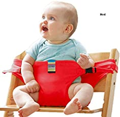 Babies Bloom Red Baby High Chair Booster Safety Seat Strap/Harness Belt for Toddler Feeding (Suitable for 10 Months to 3 Years of Baby/Kid)