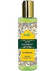 Divine India Anti Dandruff Herbal Shampoo - Ayurvedic 200 ml - Enriched with Neem & Rosemary