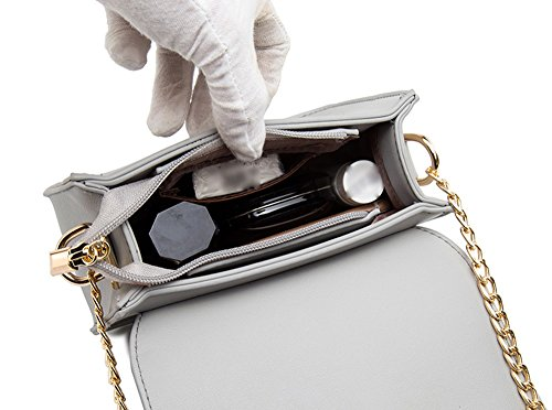 Versione coreana dello zaino obliquo della spalla, mini borse selvagge, pacchetti estivi, pacchetto catena delle signore ( Colore : Nero ) Grigio
