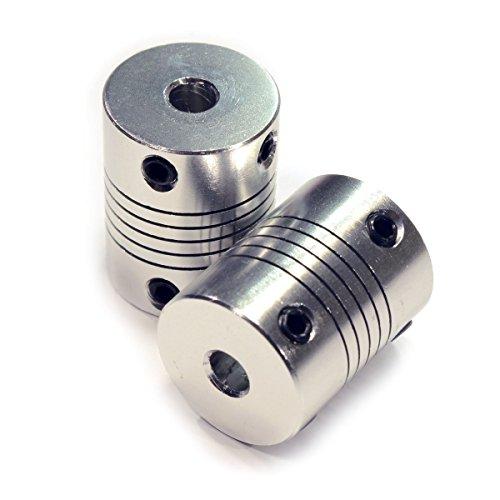 2 STÜCKE Koppler Flexible Kupplungen 5mm bis 8mm NEMA 17 Welle für RepRap 3D Drucker oder CNC Maschine Eewolf - 5-mm-welle