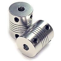 Acoplamientos flexibles del acoplador 2PCS 5mm a 8m m Eje NEMA 17 para la impresora 3D RepRap o la máquina del CNC Eewolf