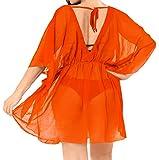 LA LEELA Costumi di Halloween Festa Cosplay Skulls Pirata Gotico Festival spiaggiù dello Swimwear del Costume da Bagno Bikini delle Donne coprirsi Estate Camicetta Casuale Superiore Arancione_I754