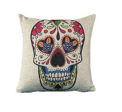 Day Of The Dead, del giorno dei morti, Mexico, Fiesta Mexican Sugar Skull Cuscino, federa per cuscino, Día de los Muertos.