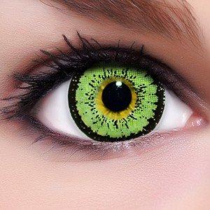 Linsenfinder Lenzera Circle Lenses grüne 'Angel Green' ohne und mit Stärke + Kombilösung + Behälter 15mm Big Eyes farbige Kontaktlinsen