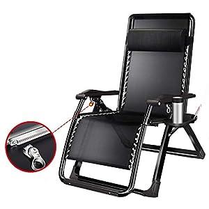 LXD Zero Gravity Outdoor Klappsessel mit Snack-Tablett, verstellbare Liegestühle für den Travel Yard Beach Pool