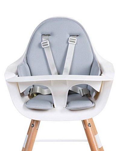 Childhome- EVOLU Sitzkissen Für Baby Hochstuhl, 60 x 56 x 4 cm, Hellgrau