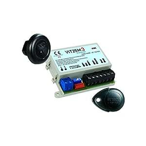 Captiv Urmet - Kit Composé De 1 Micro Centrale Vigik/Résident, 1 Lecteur Format T25Vk3, 1 Clé Noire De Proximité