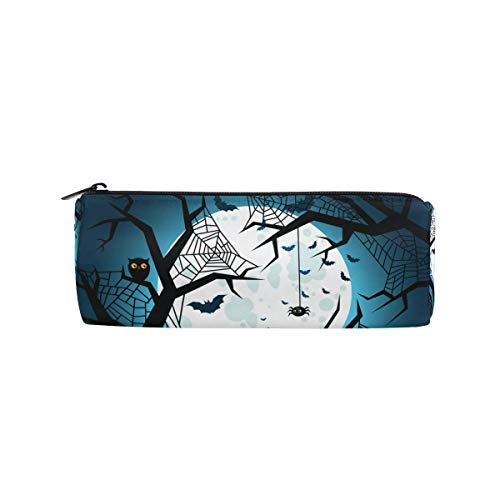 Federmäppchen Halloween Flying Nacht Bleistift Casual Chic Fall Zylinder Form Stift Stationery Tasche Bag Kosmetik Make Up Tasche (Color : Color, Size : One Size)