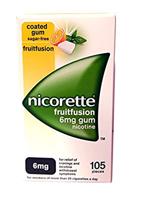 NICORETTE FRUITFUSION 6MG GUM 105 pieces