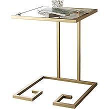 Schon YNN Sofa Beistelltisch Couchtisch Snack Tisch Metall + Gehärtetem Glas  Nachttisch Computer Schreibtisch Beistelltisch 45 *