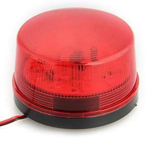 Sirène Alarme Avertisseur LED Rouge DC 12V Flash Strobe Sécurité Maison