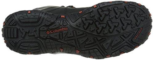 Columbia - PEAKFREAK VENTURE MID WATERPROOF OMNI-H, Scarpe da escursionismo Uomo Nero (Black/Sanguine 010)