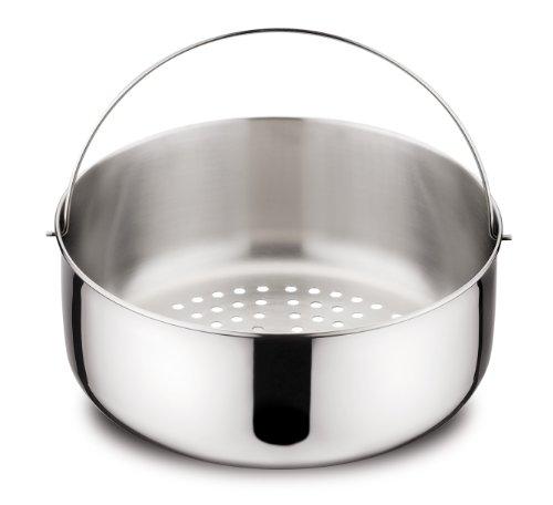 Lagostina accessori pressione cestello cuocivapore inox misura 2 lt.5 pentole e preparazione cucina, acciaio inossidabile, argento, 22 cm