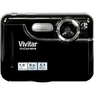 Digitalkamera Vivitar 5018 mit 5,1 Megapixeln, 8-fachem digitalem Zoom, 1,8-Zoll-Bildschirm (schwarz)
