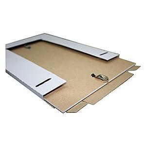 Rahmenloser Bilderrahmen Bildhalter Bildträger mit Clip Rahmen Kunstglas Plexi (50 x 70 cm - DIN B2)