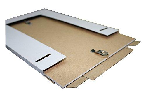 MigiEinkauf Rahmenloser Bilderrahmen Bildhalter Bildträger mit Clip Rahmen Kunstglas Plexi (50 x 70 cm - DIN B2)