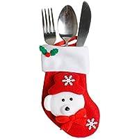 1PC Noël vaisselle vaisselle fourchette sac (D)