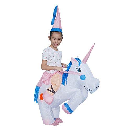 loween Lustige Fantasie Blow Up Kostüm Aufblasbare Cosplay Outfit Einhorn (Blow Up Einhorn Kostüm)
