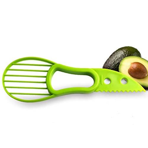 WZRDD 3-In-1 Avocado Slicer Shea Corer Butter Peeler Fruchtschneider Fruchtfleisch Separator Kunststoffmesser Küche Gemüse Werkzeuge Küchenhelfer -