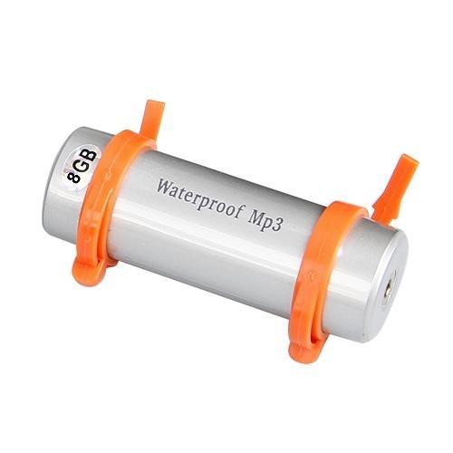 8GB MP3 WMA Player Spieler USB Wasserdicht Wasserfest Silber