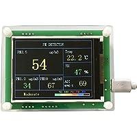 Detector de calidad de aire para vehículo PM2.5 de 2.8 pulgadas Medidor de medida para partículas de aire digital (Color: verde)