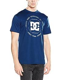 DC Shoes Rebuilt 2 SS - Camiseta para niño, color azul, talla L