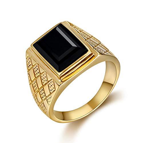 BOBIJOO Jewelry - El Anillo De Sellar El Hombre Piedra