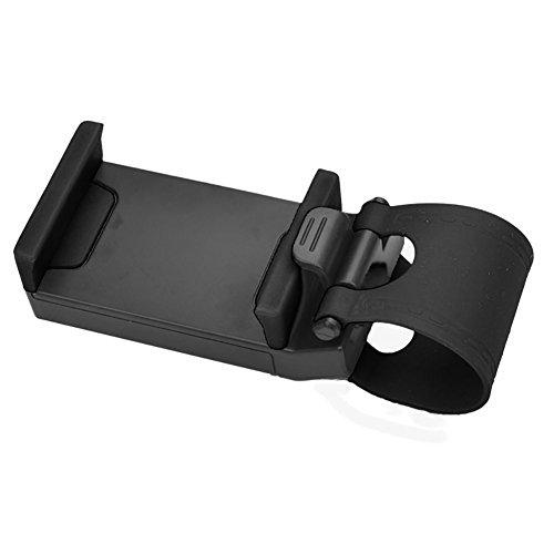 Yunshangauto® Titolare Telefono Cellulare Multifunzionale / Supporto / Clip / Fibbia mani presa libera sul volante dell'automobile, Nero