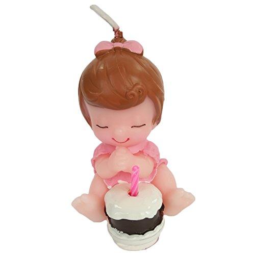 atur-Geburtstags-Kerze, Hochzeits-Kerze, rauchlose Kuchen-Kerze für Partei, reizend Geschenk, Babyparty und Hochzeit (Rosa Mädchen Baby) (Baby-mädchen-dusche Partei Begünstigt)