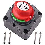 LotFancy Interrupteur de Batterie Coupe Batterie 6V 12V 24V 48V 60V, Commutateur de Batterie pour Voiture camping car Bateau Camion Tracteur Auto Moto Anti-vol 275/1250A