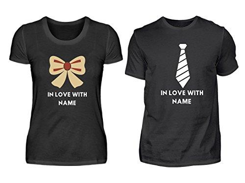 878808ff2cb813 Hochwertiges Partner Shirt - Forever Love Name Partner Liebe Couple -  Schlichtes Und Witziges Design