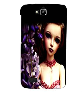 PrintDhaba Cute Doll D-1043 Back Case Cover for HUAWEI HONOR HOLLY (Multi-Coloured)
