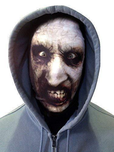 GNS Halloween 3D weiß Hexe Face Novelty Fun Stoff Face Maske Design Snood Gesichtsmaske hergestellt in Yorkshire ()