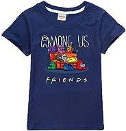 Camiseta Divertida para niños Among Us Gaming Impostor Character 100% algodón Niños Niñas Camiseta Viral Gamer