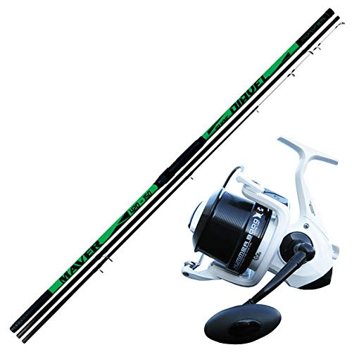 AGC Kit Pesca SURFCASTING Composto da Canna MAVER DIAVEL 4,20 m 150 Gr + Mulinello Evo Fishing Hummer 8000