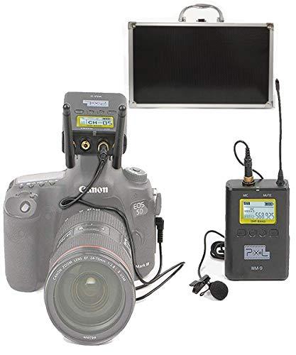 Pixel 50-Kanal Professionelle UHF Wireless Lavalier-Mikrofon-System mit LCD Portable Receiver für DSLR-Kameras Handys Camcorder in Videoaufnahme, Programm-Hosting und Interview Verwendet Wireless-kamera-video-receiver