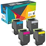Do it Wiser 4 Toner Kompatibel für Lexmark CX410de CX310dn CX510de CX310n CX310 CX410dte CX410e CX510dthe CX510dhe   80C2SK0 80C2SC0 80C2SM0 80C2SY0 (Schwarz 2.500 - Farben 2.000 Seiten)