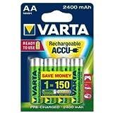 Batterie Varta type AA Mignon 2400mAh (Protection contre la décharge)